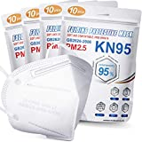KN95 Face Mask 40 PCs, Included on FDA EUA List, Filter Efficiency95%, 5 Layers Cup Dust Mask, Masks Against PM2.5 from Fire Smoke, Dust, for Men, Women, Essential Workers(White)