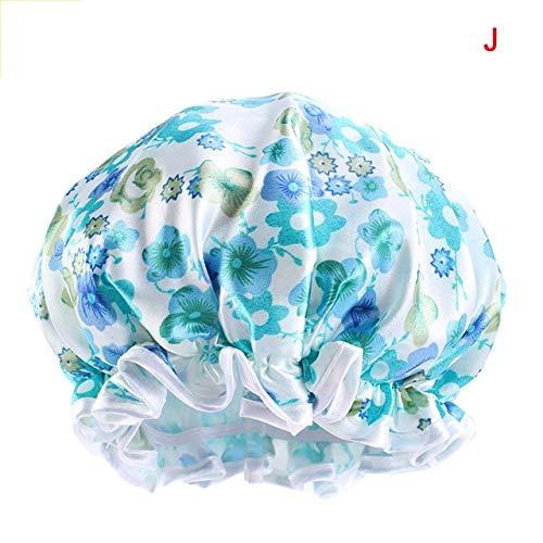 Gorro de Dormir de satén Extragrande, Gorro de Ducha Impermeable, Protege el Cabello, Sombrero de Tratamiento capilar para Mujeres, 6 Colores-a12