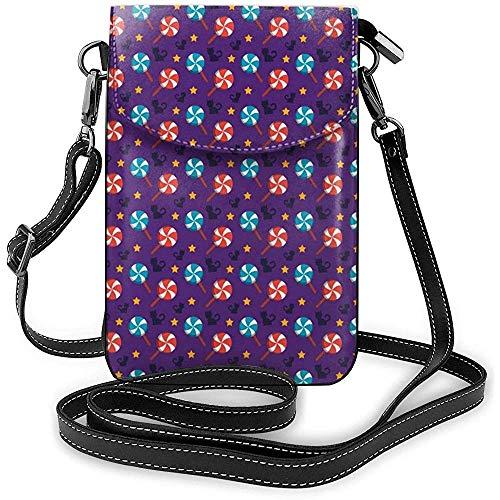 Glückliche Halloween-Lutscher-Katzen-Handy-Geldbeutel-Geldbörse für die Frauen, die Reise-kleine Crossbody-Tasche kaufen