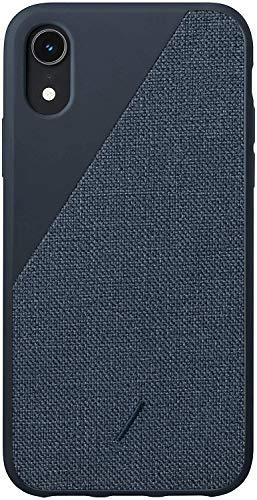Native Union Clic Canvas Hülle- Hochwertige Gewebehülle- kompatibel mit iPhone XR (Blau)