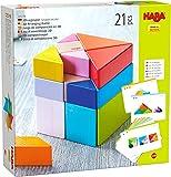 HABA - Jeu d'assemblage 3D Tangram - Cubes en bois - 305778 - Jouet en bois PEFC - Dès 2 ans