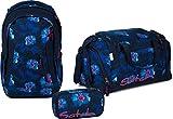 Satch Schulrucksack-Set 3-TLG Sleek Waikiki Blue blau