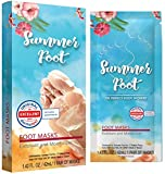 Summer Foot Premium Foot Mask for Baby Soft Feet | Exfoliating Foot Peel & Callus Remover for Feet - Repair rough heels with one-time treatment