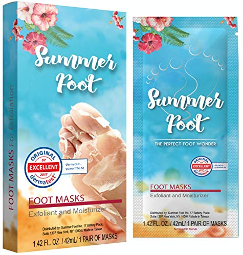 Summer Foot Premium Foot Mask for Baby Soft Feet | Exfoliating Foot Peel & Callus Remover for Feet - Repair rough heels with 1 pair with one-time treatment