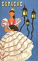 ブリキ メタル プレート サイン 2枚 1955 スペインフラメンコ金属錫看板 12 × 8 インチホームキッチン寝室バーサイン装飾ポスター錫看板ハロウィン感謝祭ギフト