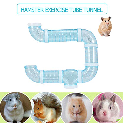 Weehey Hamster Tube Tunnel Toy DIY Módulo de Juegos para niños Ejercicio de Juguete para Hamster Mouse y Otras Mascotas pequeñas