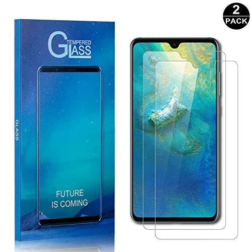 Bear Village® Displayschutzfolie für Huawei Mate 20, Anti Fingerabdruck, Keine Luftblasen, Ultra klar Hart Schutzfilm aus Gehärtetem Glas für Huawei Mate 20, 2 Stück