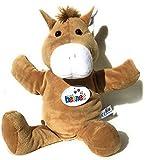 Ventilkappenkönig Títere de mano de caballo, burro para niños, peluche, regalo para teatro, 35 cm