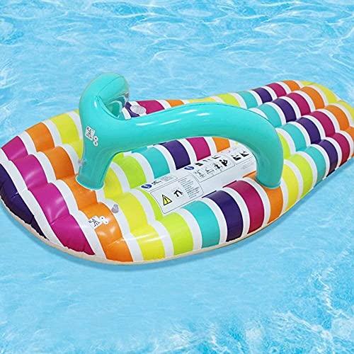 CMMT piscina balsa flotante fila cama de aire zapatillas flotantes fila flotante cama personalidad moda natación anillo inflable agua y anillo de natación cojín de aire