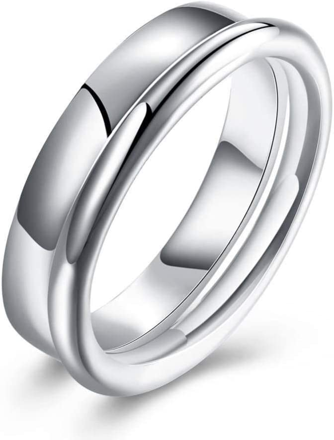 ywring Simple Jewelry Max 42% OFF 925 Sterling Rings Women Weddin Silver for free