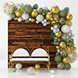 Olive Green Balloon Garland Arch Kit With...