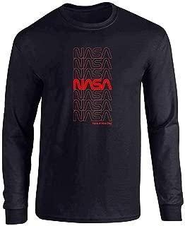 NASA Approved Retro Repeating Worm Logo Full Long Sleeve Tee T-Shirt