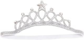 Baby Girl Crown Tiara Headband Head Wrap Hair Band Headwear Birthday Gift Princess Tiara Crown Headband (Silver)