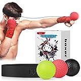 Abree Boxing Reflex Ball 3 Set di Palline da Allenamento con Fasce Regolabili per Agilità di Reazione velocità di Punzonatura Combattimento Abilità e Allenamento della coordinazione Occhio-Mano