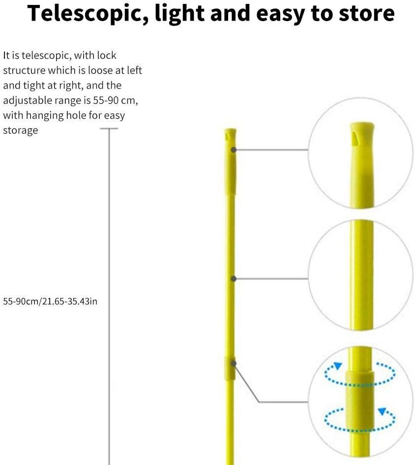 Multifunktions-Wischmopp f/ür Boden und W/ände 180 Grad ausziehbarer Teleskopgriff Mikrofaser Staub blau Dreieck-Wischmopp