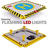 Eagle Pro Remote Control Helicopter Landing Pad - Complete Edition - Flashing LED Lights Installed - Suitable for RC Helicopters, Quadcopters, Drones, Syma Helicopters