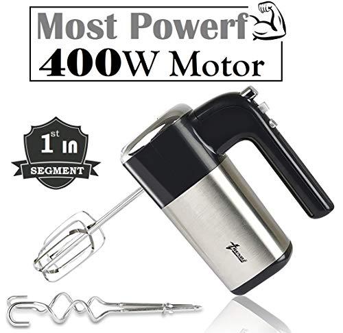 Trendz Forever Stainless Steel 400 Watt HM1822 Hand Mixer, Silver