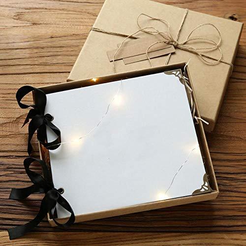 Hbno Losse blad/bruiloft fotoalbum verzamelalbum 20 pagina's blank/DIY album foto cover zelfklevend verzamelalbum album case binding