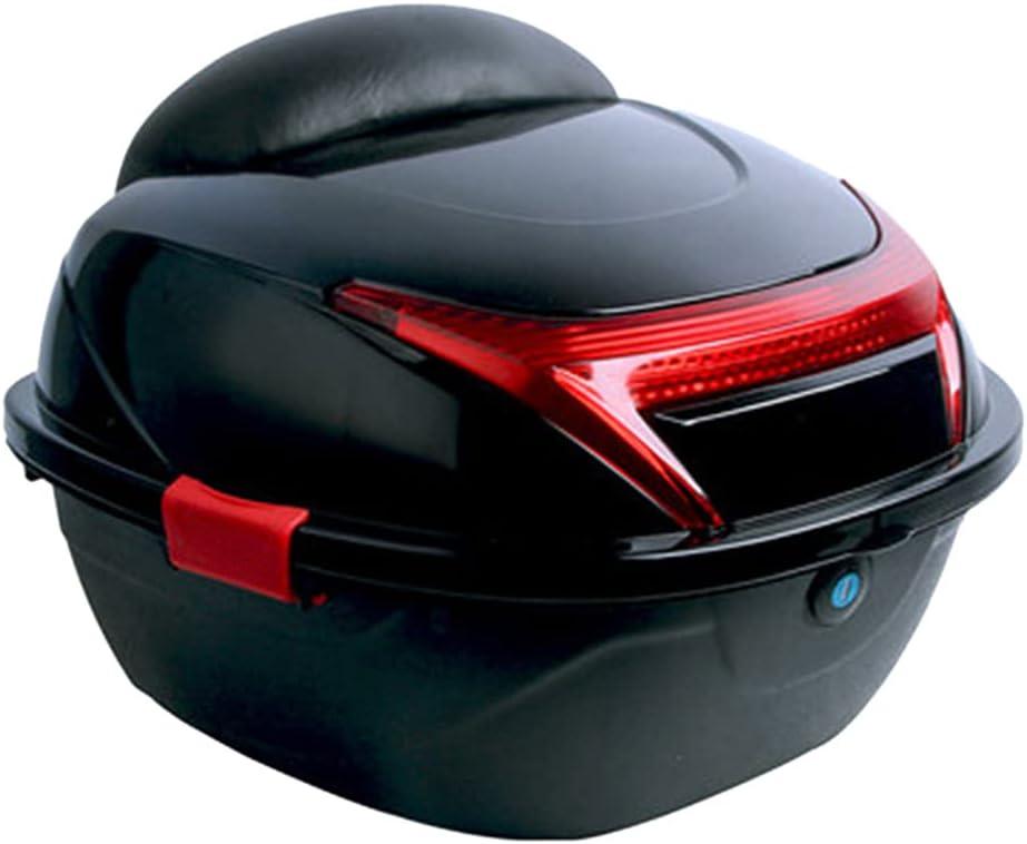 Baúl de Equipaje para Motocicleta Scooter Top Box Caja para Moto Gran Capacidad Sellado E Impermeable Respaldo Cómodo Y Suave Y Forro Interior (extraíble) Adecuado para Modelos con Marco
