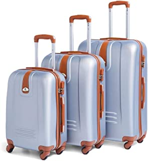 Travel Trolley Luggage Bags, Set of Pieces- silver
