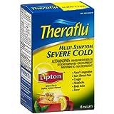 Theraflu Multi Symptom Severe Cold Packets, Green Tea And Honey Lemon - 6 Ea