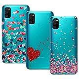 Young Min Funda para Samsung Galaxy M30s/Galaxy M21, (3 Pack) Transparente TPU Silicona Carcasa Delgado Antigolpes Resistente, Amor