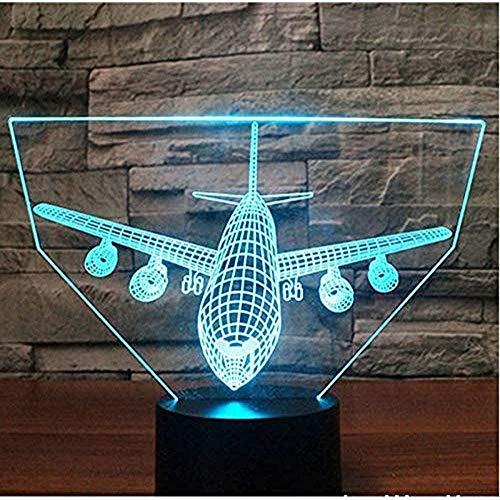 Dalovy Festival 3D Led Nachtlicht Schock Hang Raketen Bomber Positiv Kommen Mit 7 Farben Licht Flugzeug Flugzeuge Fuuml; R Hauptdekoration Lampe
