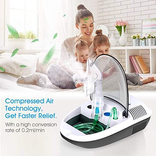 51uufEYsvgL - Hangsun Inhalador Nebulizador Electrico CN680 Compresor Bebe Adulto Para Inhalación De Medicamentos Líquidos
