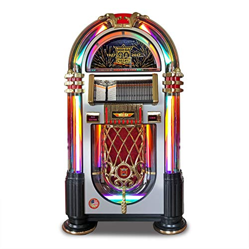 Rock-Ola | Full Size Bubbler CD Jukebox with Bluetooth | Light Oak Edition