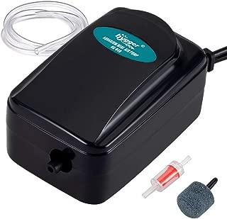 Hygger 1W Mini Aquarium Air Pump Kit, Powerful Small Betta Fish Oxygen Pump for 2-20 Gallon Tank Fish Bowl with Air Tube Air Bubbler Stone Check Valve
