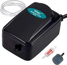 Hygger 1W Mini Aquarium Air Pump Kit, Powerful Small Betta Fish Oxygen Pump for 5-20 Gallon Tank Fish Bowl with Air Tube Air Bubbler Stone Check Valve