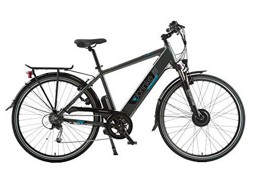 Brinke TIME SQUARE Bicicletta elettrica Motore motore anteriore 8FUN brushless 36v 250w 700c batteria SAMSUNG da 36v 8,8Ah (317w) con BMS