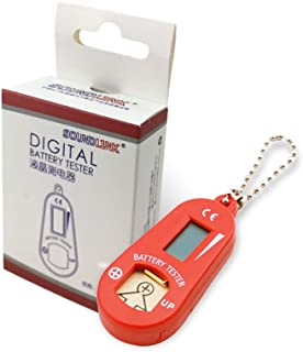 Hearing Aid Battery Testers with Spare Battery Storage Compartment (Red)