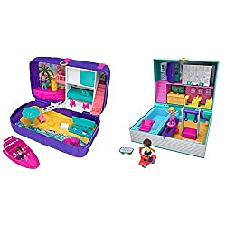 Product 1: Polly pocket hidden places beach vibes backpack opens to reveal a larger beach-themed polly world Product 1: Great to take on-the-go for beachy keen play anytime, anywhere Product 1: Comes with polly and shani dolls and opens to a beach ho...
