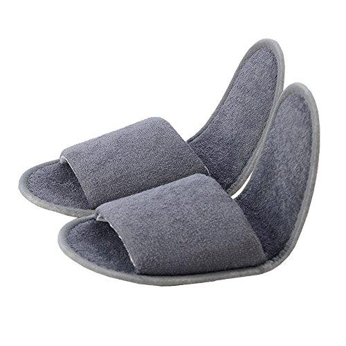 Comfysail Zapatillas de Viaje de Plegables Pantuflas de Algodón Antideslizante de Hotel Zapatillas con Una Bolsa de Portable
