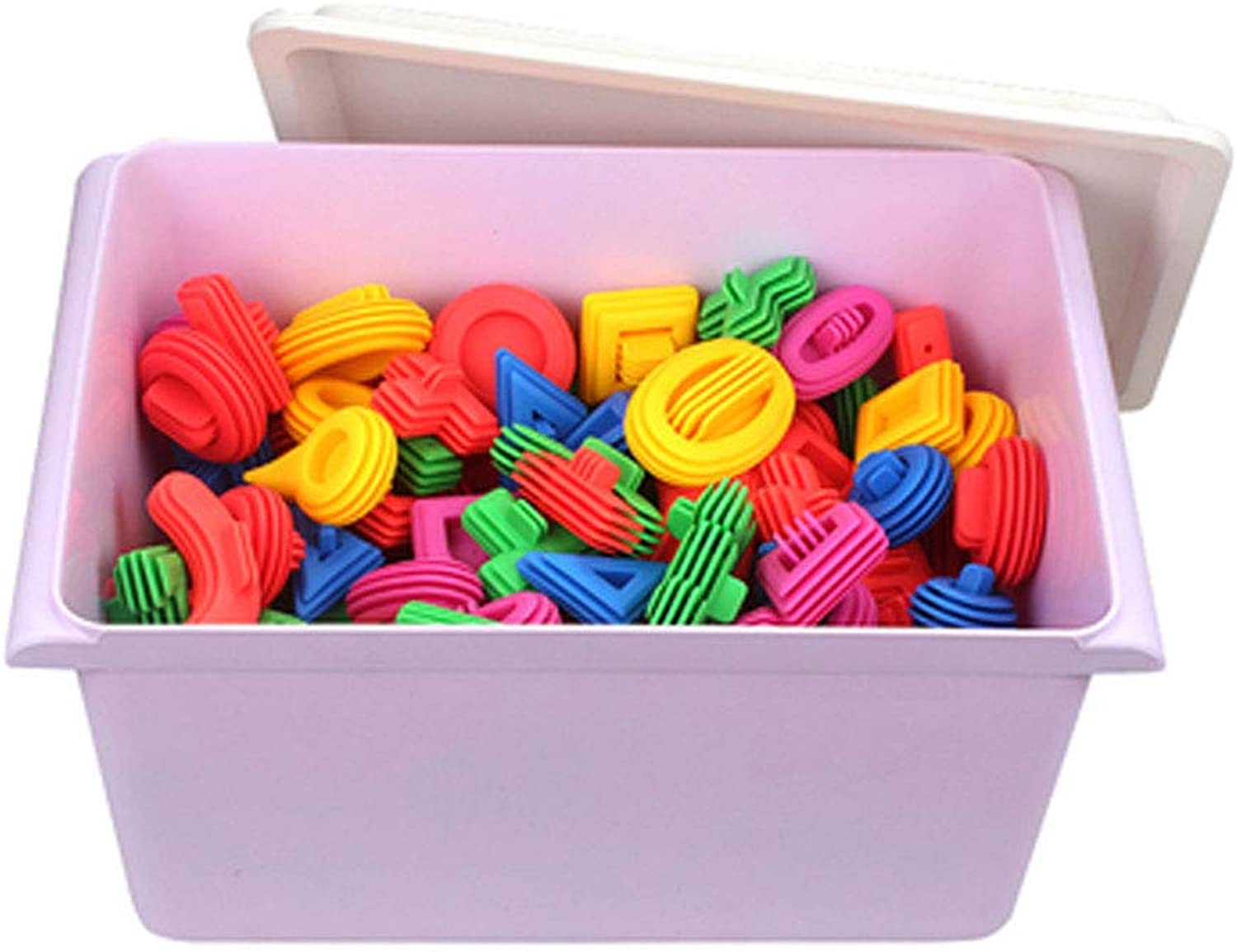 Hai Yan Boutique Toys Toys - 2-3-4-6 Years Old Early Education Building Blocks Educational Toys color Soft Body Thickening Building Blocks Plastic Spell Insert Assembling Toys Baby Intellectual Toys