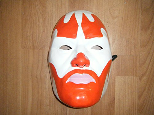 CLOWN ROUGE-THERMO-FOLLE POSSE PLASTIC- MASK- RIGIDE UNIVERSEL