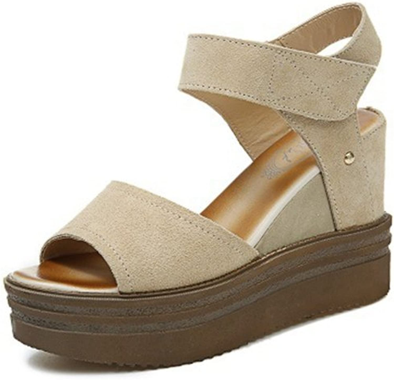 Zarbrina Womens Fashion Wedge Single StrapTie up Buckle Sandals Ankle Slip on Sandal Peep Toe Flatform Wear