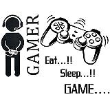 BESLIME Pegatina Juegos Inspiradora , Pegatinas de pared para juegos Para Dormitorio, Dormitorio, Salón Sala De Juegos, Niño Wall Stickers, 2pcs