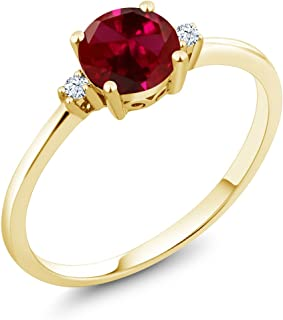 ruby and yellow sapphire ring