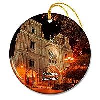 クエンカのエクアドル大聖堂クリスマスオーナメントセラミックシート旅行お土産ギフト