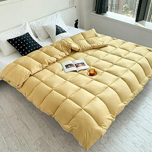 cyxb Thick & Warm Duvet Quilt Double,Down velvet thickened warm winter quilt, sterilized and anti-mite square quilt-Lemon yellow_200*230cm/79 * 91'/6.6LB
