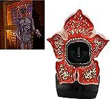 Vercico Máscara Demogorgon, Horror Máscara de Cabeza Completa Máscara y Collar Halloween para Adultos Jóvenes Niños para Fiesta de Disfraces Navidad Máscara Látex y Collar Cosplay