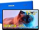 モバイルモニター Kiperline モバイルディスプレイ 15.6インチ ワイヤレスポータブルモニター 1920x1080FHD VESA対応 非光沢 IPS液晶パネル 薄型 軽量 2年保証 テレワーク リモートワーク 在宅勤務 日本語説明書付 PSE認証済み(ブルー)
