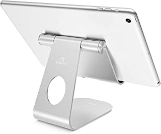 Tablet Stand Adjustable, AirienX Tablet Stand : Desktop Stand Holder Dock Compatible with New iPad 2018 Pro 9.7, 11, Air Mini 2 3 4, Kindle, Phone, Accessories, Tab, E-Reader (4-13 inch) - Silver