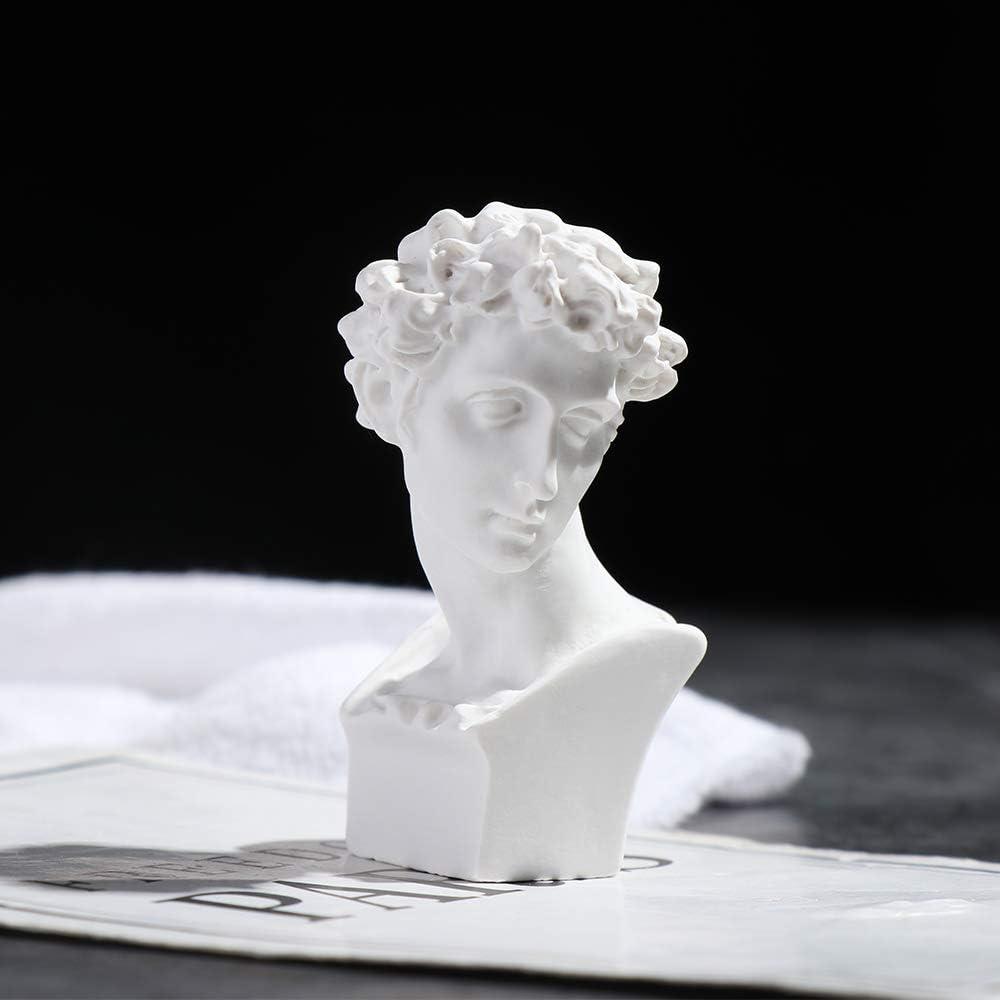 Size 1 Milter 2PCS Nordic Style Home Decor Zeichnungspraxis Handwerk Ber/ühmte Skulptur Gips B/üste Statue Griechische Mythologie Figur Gips Portraits