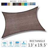LOVE STORY 13' x 19'5'' Rectangle Sand Sun Shade Sail Canopy UV Block Awning for Outdoor Patio...