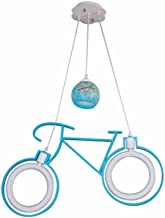 Ceiling chandelierChandelier Chandelier Depend Cartoon Bicycle lamp crèche Eyes Warm Boys Girls LED Ceiling Lighting Trail...