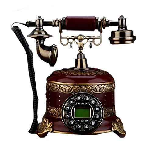 LDDZB Teléfono antiguo, con cable Dital Vintage Teléfono Clásico Europeo Retro Landline Teléfono Decorativo Rotatorio Dail con Auriculares Colgantes para el Hogar