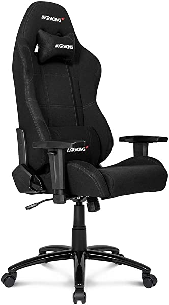 AKRacing Core Series EX Wide Gaming Chair With Wide Seat High And Wide Backrest Recliner Swivel Tilt Rocker And Seat Height Adjustment Mechanisms With 5 10 Warranty Black